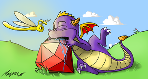 Sleepy Spyro by Morganicism