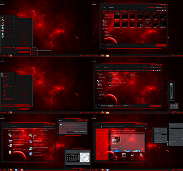 windows 7 theme red line (glass) by customizewin7