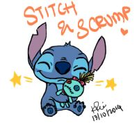 STITCH Tablet Drawing by KimikoRei07