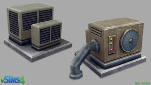 The Sims 4: HVAC Units by DeadXIII