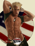 Guile Pinup by beelzaboo