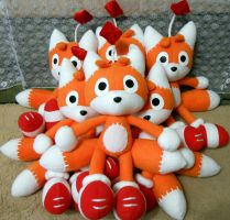 Bunch of Tails Dolls - FOR SALE by Rens-twin