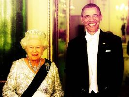 The Queen and Barack Obama by grapecx