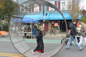 The Human Hamster Wheel Rolling Down the Street 5 by Miss-Tbones