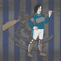 Commission: Ravenclaw Quidditch Player by RomanJones