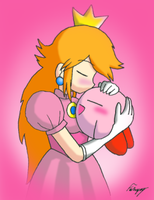 Peach And Kirby by GreenMage