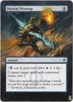 Magic Card Alteration: Mental Misstep 1 by Ondal-the-Fool