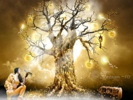 The golden tree by Tdesignstudio