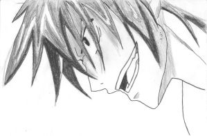 Gray Fullbuster sketch by SummeJunges34