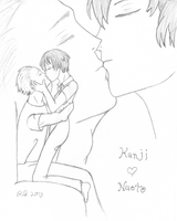 Kanji and Naoto Kissing by SmallBell