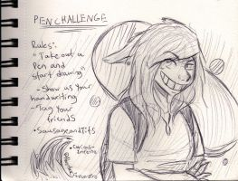 Pen Challenge by WolfOfTheMoons