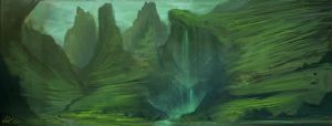 Fantasy Landscape II by Concept-Cube