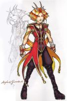 Angelus character design by fractal-inversion