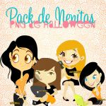 Pack de Nenitas Png de Halloween by LeahEditiions