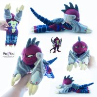 Dark Donatello beanie plushie by meplushyou