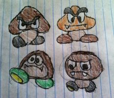 Four Gang Of Goomba's by Konggers