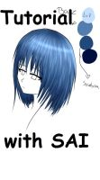 Tutorial.- Hair color with SAI [Spanish] by ArantxaCosplayer