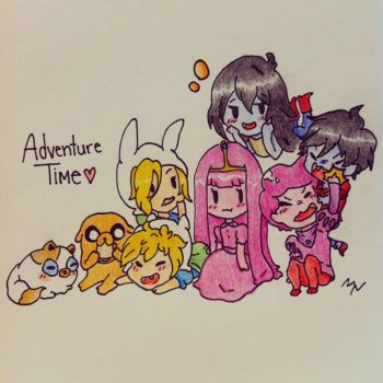 Chibi Adventure Time by animemaddiechan