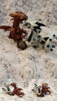 Aes and Ferrum - Dragon Pair- sold by SonsationalCreations