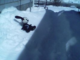 Oswald on a Snow Bank by JudgeChaos