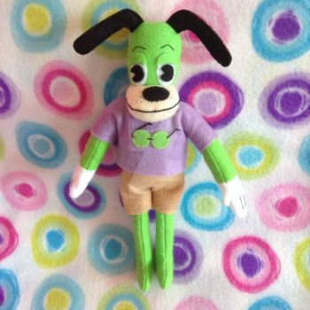 Green Toontown Dog Plushie (Custom Order) by MadameWario