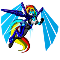 Rainbow Dash kick ass version by Animewave-Neo
