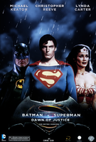 Batman vs Superman Dawn of Justice retro alternate by chronoxiong