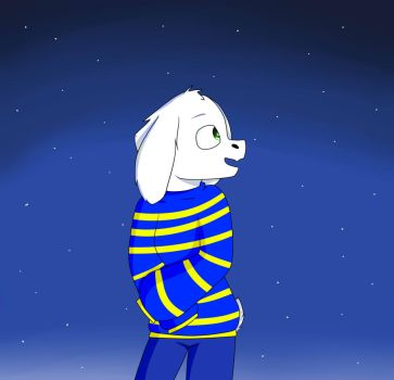 Asriel(Outertale) by LuckyKlover