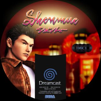 GD label dreamcast shenmue GD1 by Anarkhya