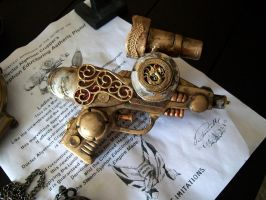 Steampunk Pistol Completed by Rhissanna