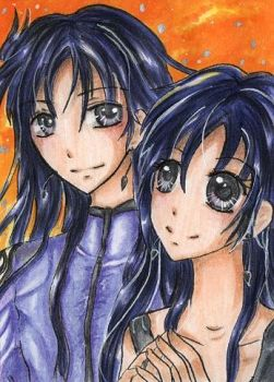 ACEO 054 - Silence and Youma by Mikari90