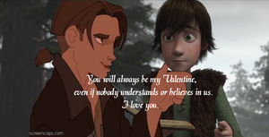 Jim and Hiccup V DAY CARD by AleahDani