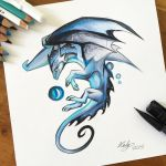 190- Blue Mystic Dragon by Lucky978