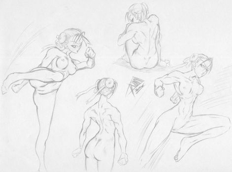 Female Anatomy Exercise by ClawOfTheFallen