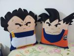 Handmade Dragon Ball Z Goku and Vegeta Pillow Set by RbitencourtUSA