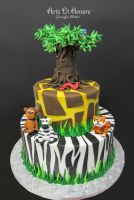 Safari Cake by ArteDiAmore