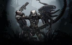 AvP Swamp Fight by THEevilMC