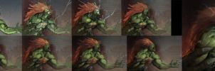 Blanka progress by Omuk