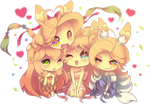 Chibi Seasons by Zelbunnii