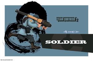 wallpaper - team fortress 2 : soldier by zen-pai