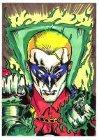 Green Lantern Sketch Card by aldoggartist2004