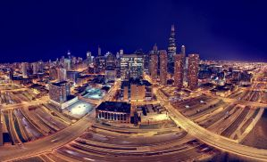 Chicago pano-Skybridge v2 by delobbo