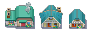 NEW BARK TOWN TILESET by WesleyFG