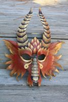 Mask for my fire dragon by SilverCicada