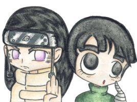 Neji and Rock Lee by VeeBunny