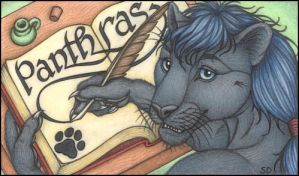 Panthras' Conbadge--Colored by swandog