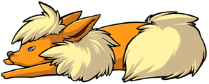 Flareon is Fluffy by LunarFireFox