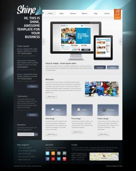 Shine - psd template by Shegystudio