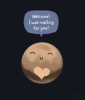 Pluto - A dwarf planet with a giant hearth by pabloyungblut