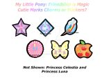 My Little Pony Cutie Mark Charms or Stickers by PumpkinChans
